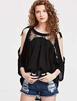 cheap -Women's T-shirt - Solid Colored Cut Out