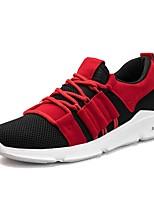 cheap -Men's Light Soles Mesh Summer Comfort Sneakers Black / Black / White / Black / Red