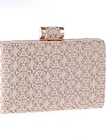 cheap -Women's Bags Polyester Evening Bag Lace Black / Almond