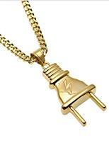 cheap -Men's Cuban Link Pendant Necklace / Chain Necklace - Titanium Steel, Stainless Mini, Plug Unique Design, European, Hip-Hop Cool Gold 70 cm Necklace Jewelry 1pc For Street, Going out