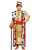 cheap -Cosplay Costume Boys' Halloween Carnival Children's Day Festival / Holiday Halloween Costumes Outfits Golden Solid Colored Halloween Halloween