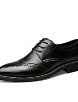cheap -Men's Formal Shoes Nappa Leather Spring Comfort / Formal Shoes Oxfords Black / Brown