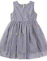 Недорогие -Дети (1-4 лет) Девочки Классический Однотонный Без рукавов Платье