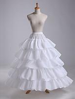 baratos -Casamento / Festa / Eventos Anáguas POLY Comprimento do Vestido Slips de Forma / Comprimento Longo com Babados em Cascata