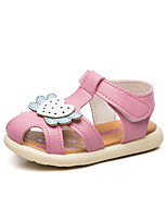 cheap -Girls' Shoes Faux Leather Summer First Walkers Sandals Magic Tape for Baby White / Blue / Pink