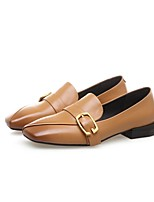 Недорогие -Жен. Обувь Наппа Leather Весна лето Удобная обувь Обувь на каблуках Блочная пятка Черный / Желтый