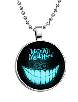 cheap -Men's Luminous Stone Long Pendant Necklace - Creative Fashion Blue 60 cm Necklace Jewelry 1pc For Halloween, Club