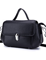 cheap -Women's Bags Cowhide Tote / Shoulder Bag Buttons Dark Green / Light Purple / Wine