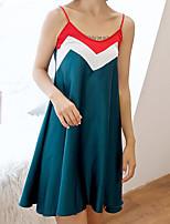 abordables -Capuche Chemises & Blouses / Costumes Pyjamas Femme Couleur Pleine