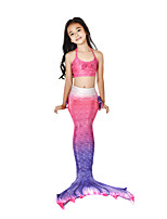 cheap -The Little Mermaid Swimwear / Bikini / Costume Girls' Halloween / Carnival Festival / Holiday Halloween Costumes Fuchsia Mermaid Vintage