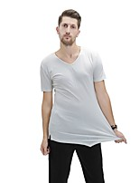 cheap -Latin Dance Tops Men's Performance Spandex Ruching Short Sleeve Top