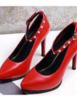 cheap -Women's Shoes PU(Polyurethane) Spring / Fall Comfort / Basic Pump Heels Stiletto Heel Black / Red