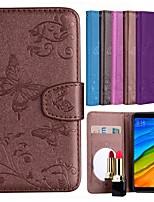 preiswerte -Hülle Für Xiaomi Redmi 5 Plus / Redmi 5 Kreditkartenfächer / Flipbare Hülle / Muster Ganzkörper-Gehäuse Solide / Schmetterling Hart PU-Leder für Xiaomi Redmi 5 Plus / Xiaomi Redmi 5 / Xiaomi Redmi S2