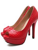 cheap -Women's Shoes PU(Polyurethane) Spring & Summer Comfort Heels Stiletto Heel Black / Beige / Pink