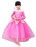 cheap -Princess Outfits Girls' Halloween / Carnival / Children's Day Festival / Holiday Halloween Costumes Pink Solid Colored / Halloween Halloween