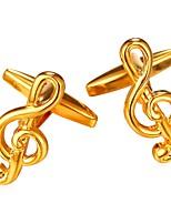 baratos -Prata / Dourado Botões de Punho Cobre Nota Musical Formal / Fashion Homens Jóias de fantasia Para Presente / Diário