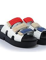 Недорогие -Жен. Обувь Полиуретан Лето Удобная обувь Тапочки и Шлепанцы Микропоры Белый / Черный / Зеленый