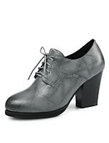 Недорогие -Жен. Обувь Наппа Leather Весна лето Удобная обувь Обувь на каблуках На толстом каблуке Черный / Серый / Красный