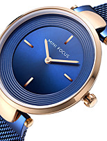 abordables -MINI FOCUS Mujer Reloj de Pulsera Reloj Casual Acero Inoxidable Banda Lujo / Minimalista Negro / Azul / Marrón