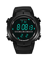 cheap -SANDA Men's Sport Watch Digital Watch Japanese Digital 30 m Water Resistant / Water Proof Calendar / date / day Stopwatch Plastic Band Digital Luxury Fashion Black / Silver / Gold - Gray Red Blue