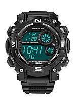 abordables -SANDA Hombre Reloj Deportivo / Reloj digital Japonés Calendario / Resistente al Agua / Nuevo diseño Plastic Banda Lujo / Moda Negro