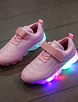cheap -Girls' Shoes PU(Polyurethane) Spring & Summer Comfort Athletic Shoes Walking Shoes LED for Teenager White / Black / Pink