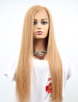 cheap -Remy Human Hair Full Lace Wig Brazilian Hair Straight Wig Asymmetrical Haircut 130% Women / Easy dressing / Sexy Lady Women's Mid Length Human Hair Lace Wig