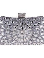 cheap -Women's Bags Polyester Evening Bag Beading / Crystals Blue / Gold / Silver