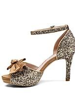 baratos -Mulheres Sapatos Couro Ecológico Primavera Verão Conforto Saltos Salto Agulha Dourado / Preto / Prateado