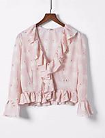 cheap -women's shirt - geometric v neck