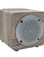 cheap -NBY3080 Speaker Bluetooth Speaker / Wooden 4.2 Micro USB Bookshelf Speaker Yellow