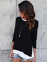 preiswerte -Damen Solide - Street Schick T-shirt