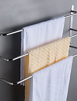 cheap -Rustproof 304 Stainless Steel Hand Polishing Finished Three Towel Bars Towel Rack Wall Mounted or Nail-Free Multilayer Bathroom Accessories 60cm WY003