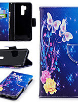 cheap -Case For LG G7 Wallet / Card Holder / with Stand Full Body Cases Flower Hard PU Leather for LG G7