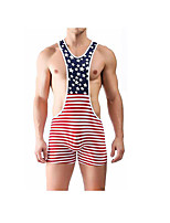 cheap -Men's Briefs Underwear Striped / Color Block High Waist