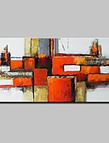 economico -Hang-Dipinto ad olio Dipinta a mano - Astratto / Pop Art Classico / Modern Tela