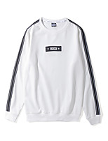 cheap -Men's Long Sleeve Loose Sweatshirt / Activewear Set - Solid Colored / Striped / Color Block Round Neck