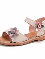 cheap -Girls' Shoes PU(Polyurethane) Summer Comfort / Flower Girl Shoes Sandals for Beige / Pink / Light Blue