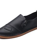 Недорогие -Муж. Полиуретан Весна Удобная обувь Мокасины и Свитер Белый / Черный