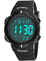 cheap -SYNOKE Men's Sport Watch / Digital Watch Calendar / date / day / Chronograph / Water Resistant / Water Proof PU Band Fashion Black / Blue / Stopwatch / Noctilucent