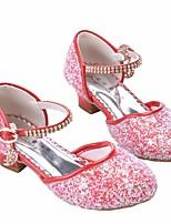 Недорогие -Девочки Обувь Искусственная кожа Весна & осень Детская праздничная обувь / Крошечные Каблуки для подростков Обувь на каблуках для Белый / Красный / Розовый