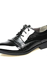 cheap -Men's Patent Leather Fall Comfort Oxfords Black / Brown