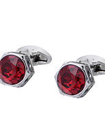 cheap -Geometric Silver Cufflinks Crystal / Copper Classic / Basic Men's Costume Jewelry For Party / Gift