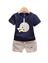 cheap -Kids Boys' Patchwork Short Sleeve Clothing Set