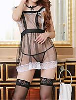 cheap -Women's Uniforms & Cheongsams / Suits Nightwear - Backless / Mesh, Color Block