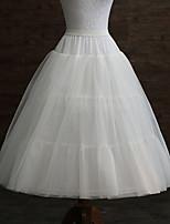 baratos -Casamento / Festa / Eventos Anáguas POLY Comprimento do Vestido Slips de Forma / Comprimento Longo com Pregas