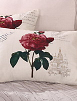 cheap -1 pcs Cotton / Linen Body Pillow, Floral Print Pastoral