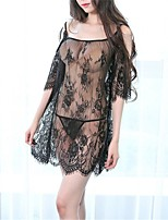 cheap -Women's Babydoll & Slips / Suits Nightwear - Lace / Mesh, Solid Colored / Embroidered