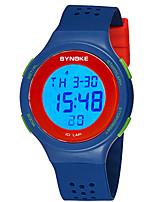 abordables -SYNOKE Hombre / Mujer Reloj digital Calendario / Cronógrafo / Resistente al Agua PU Banda Moda Negro / Rojo / Gris / Noctilucente