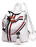 cheap -Women's Bags PU(Polyurethane) Backpack Sashes / Ribbons White / Black